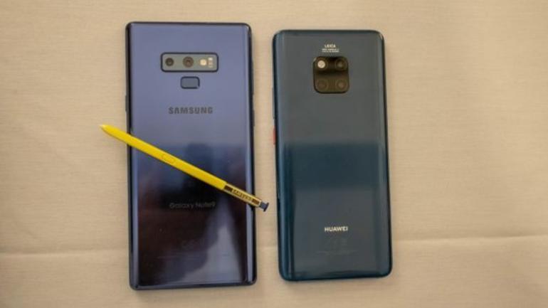 Huawei Mate 20 Pro mu Galaxy Note 9 mu
